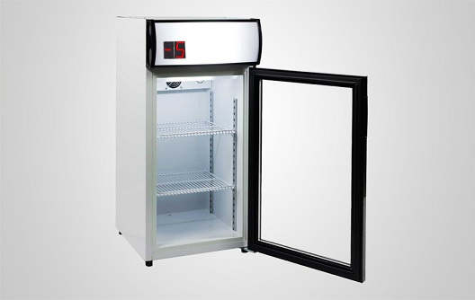 ... Procool Mini Glass Door Sub Zero Beer Cooler For Drink SZ 80L Open Door