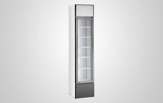 Slim Display Freezer With Glass Door For Ice Cream And