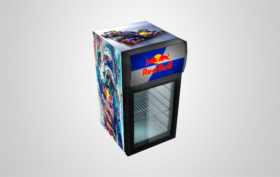 red bull fridge we can customize your logo procool. Black Bedroom Furniture Sets. Home Design Ideas