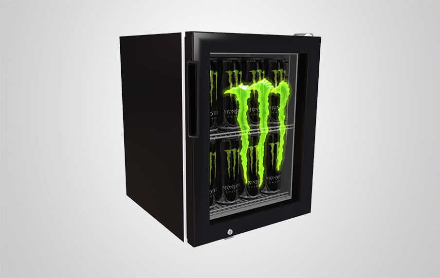 Monster Energy Mini Fridge Etched Glass Door Procool