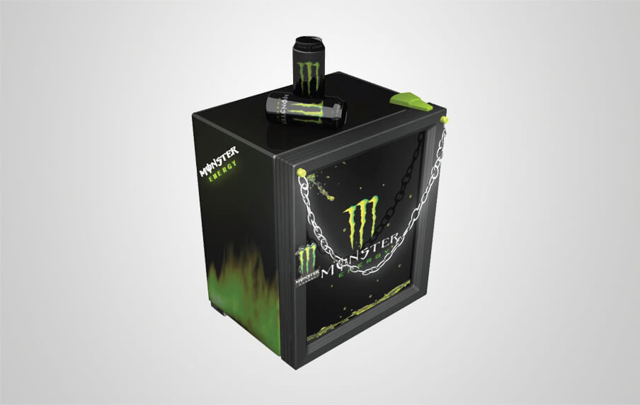 Monster Fridge With Illuminated Etched Glass Sign Procool