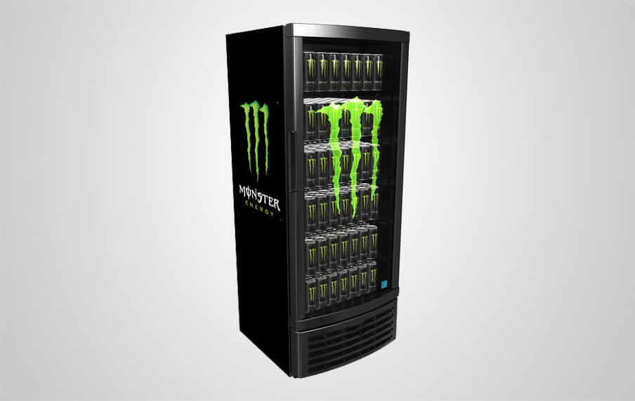 Monster Fridge with Illuminated Etched Glass Sign | Procool